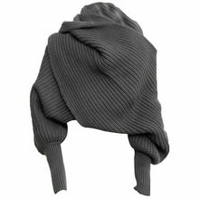 Load image into Gallery viewer, Hand-Knitted Sweater-Scarf With Sleeves