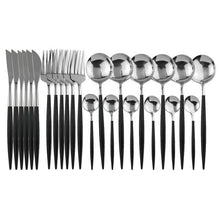 Load image into Gallery viewer, 24 Pcs Stainless Steel Cutlery Set