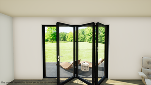 Schuco ASS70FD RIGHT Open In FOLDING 2700mm Width X 2095mm (Supply Only) Standard Size - J20 Bifolds
