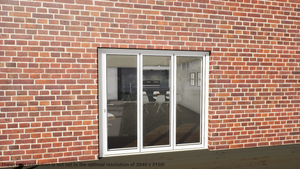 Schuco ASS70FD LEFT Open OUT FOLDING 2400mm Width X 2095mm (Supply Only) Standard Size - J20 Bifolds
