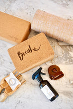 Load image into Gallery viewer, YogaTribe Swami Step Cork Yoga Block - Breathe