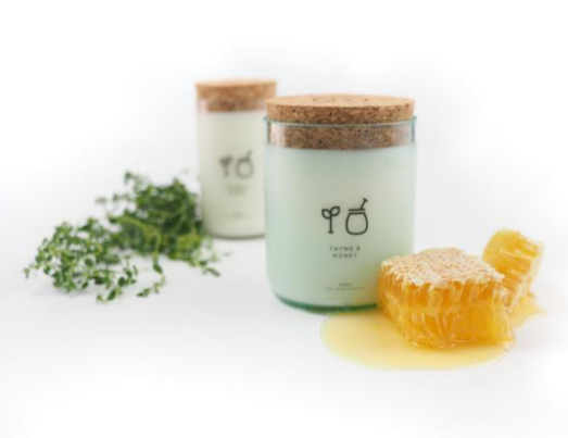The Remarkable Candle Co. Thyme & Honey Upcycled Glass Candle