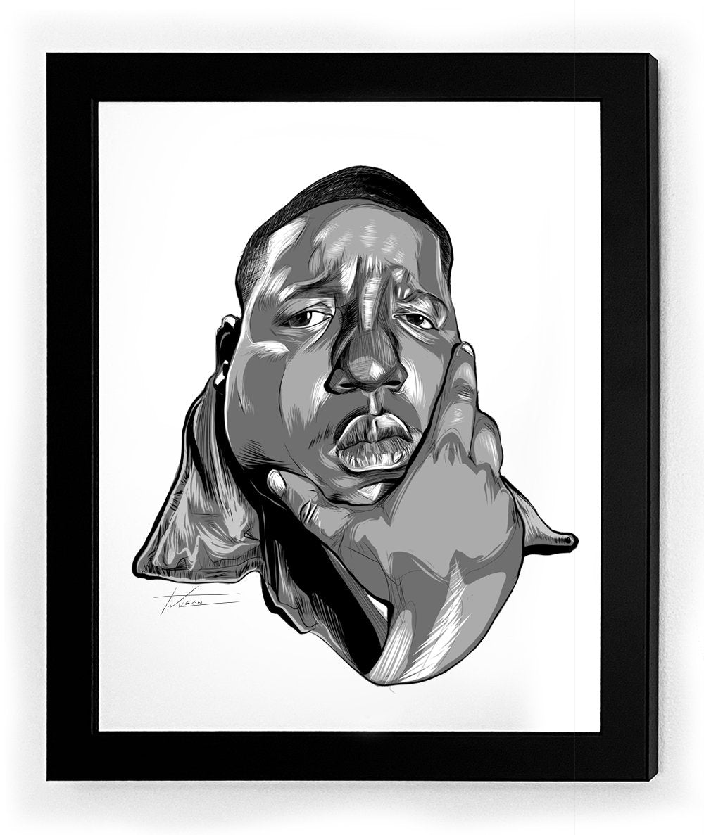 Biggie Icon Framed Art