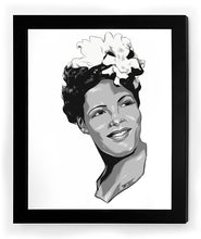 Load image into Gallery viewer, Billie Holiday Framed Art