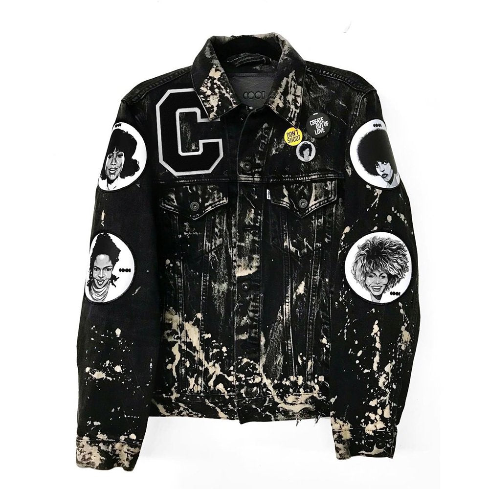 Bleached Denim Icons Jacket