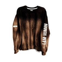 Load image into Gallery viewer, I Am Human Bleached Crewneck Sweatshirt