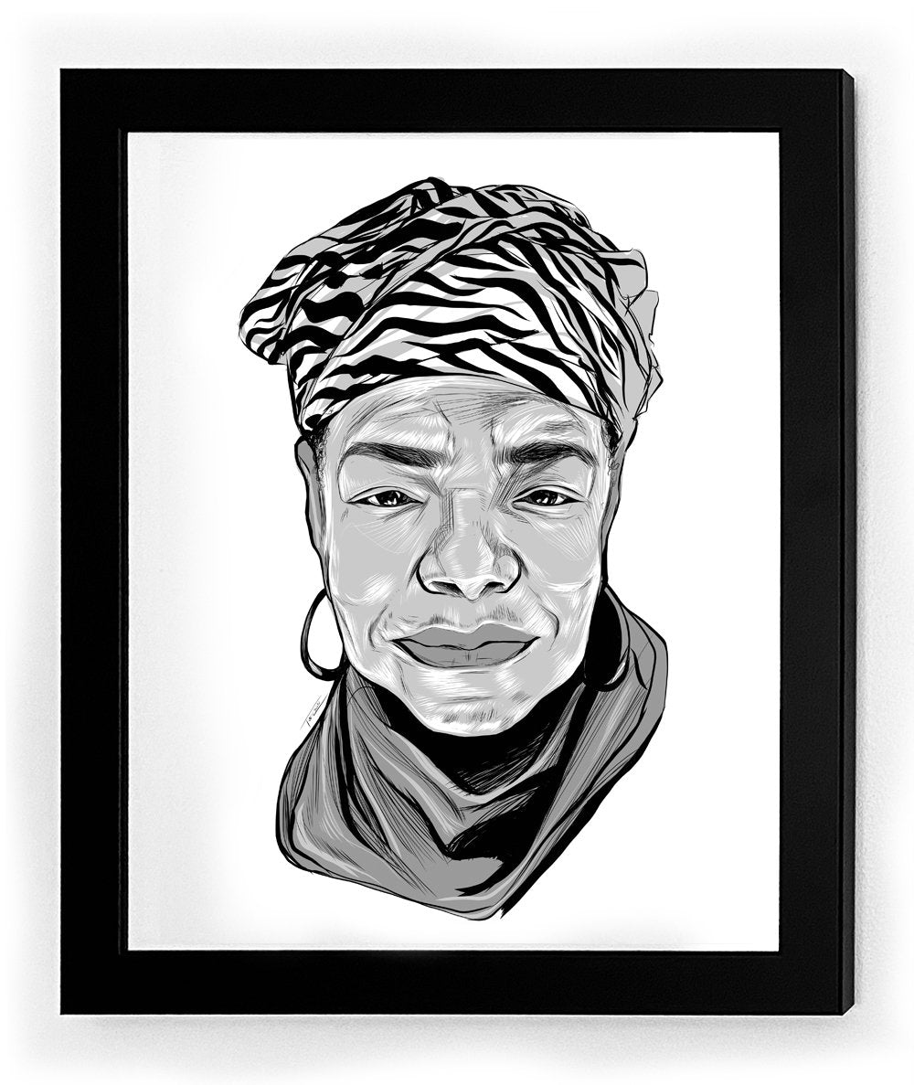 Maya Angelou Icon Collectible Framed Art