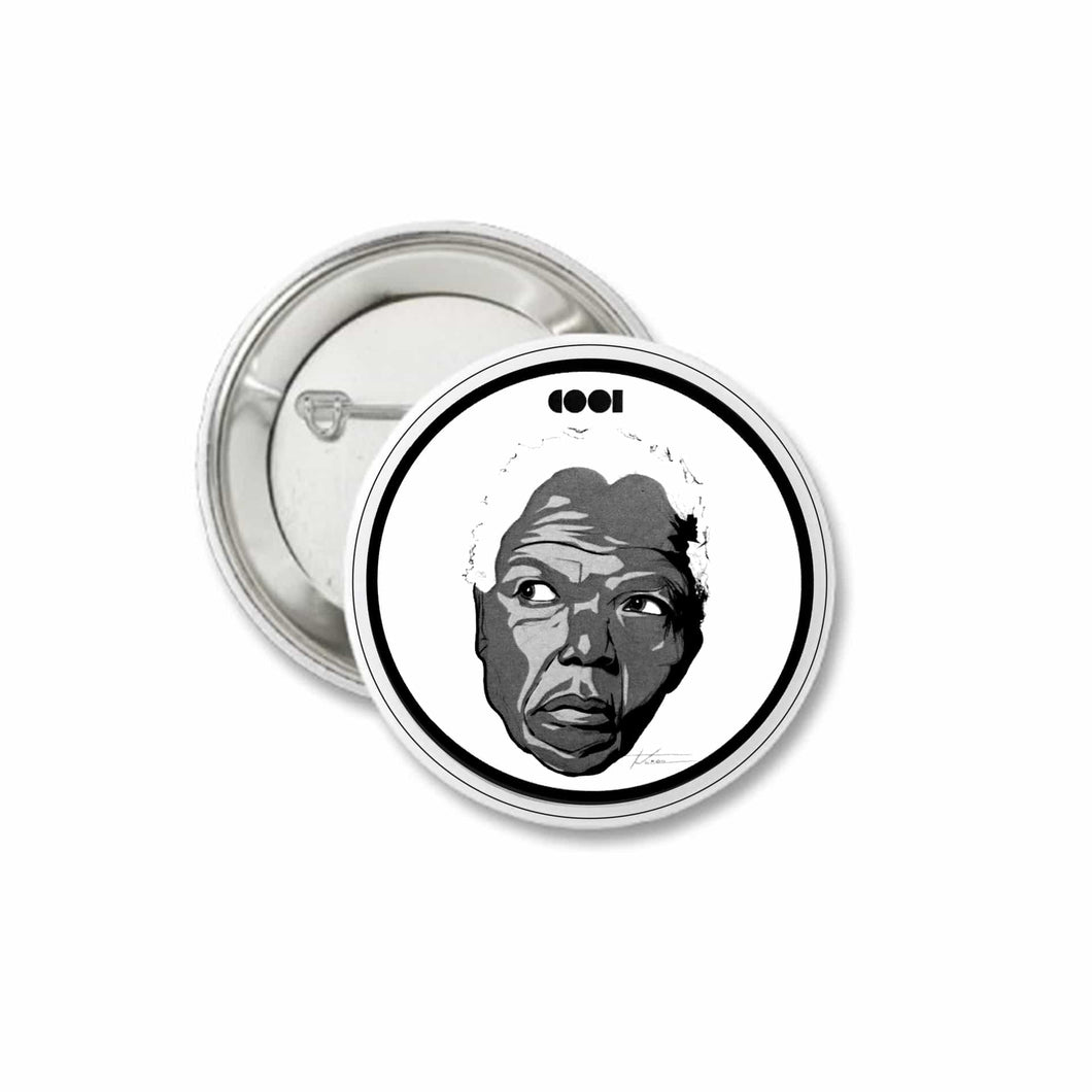 Nelson Mandela Pin Back Button