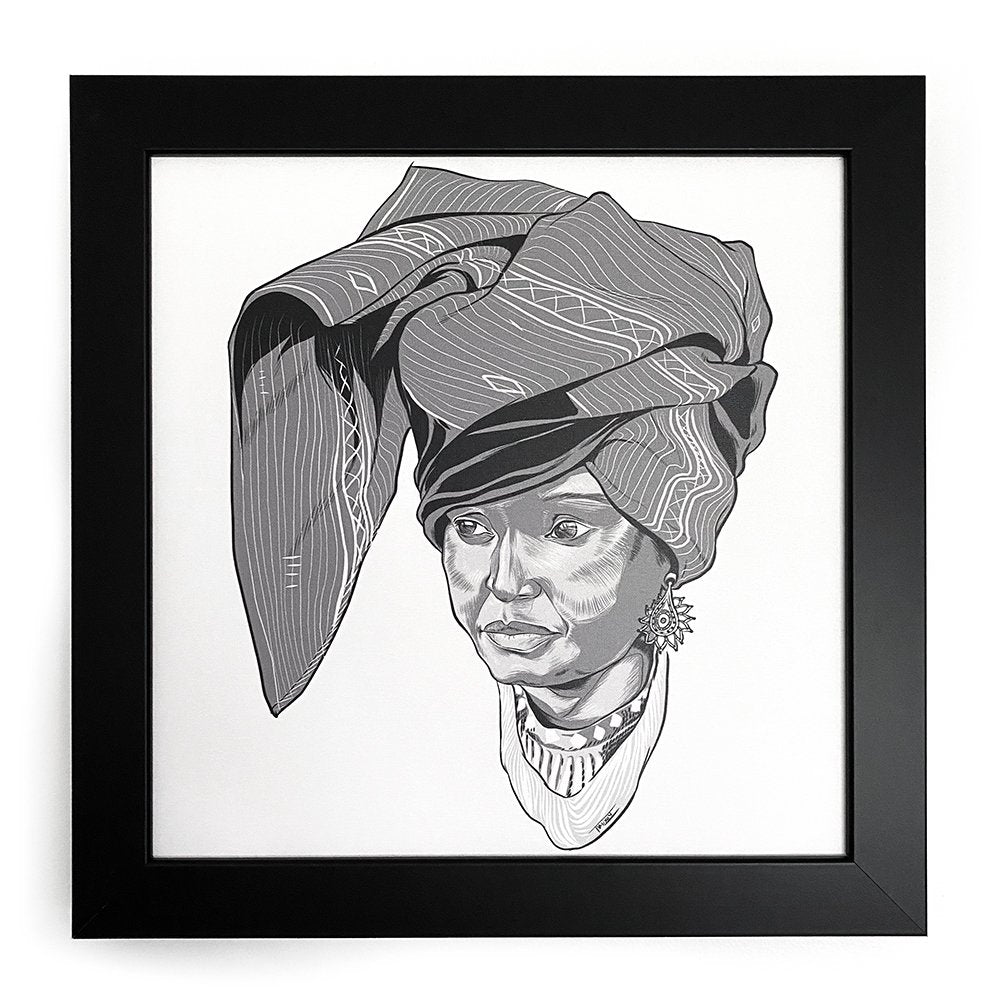 Winnie Mandela Icon Collectible Framed Art
