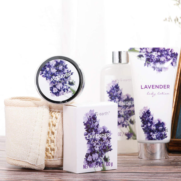 Body & Earth Gift Sets Lavender Bath & Body Gift Basket