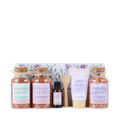 Green Canyon Spa Gift Sets Pink Himalayan Bath Salt Gift Set