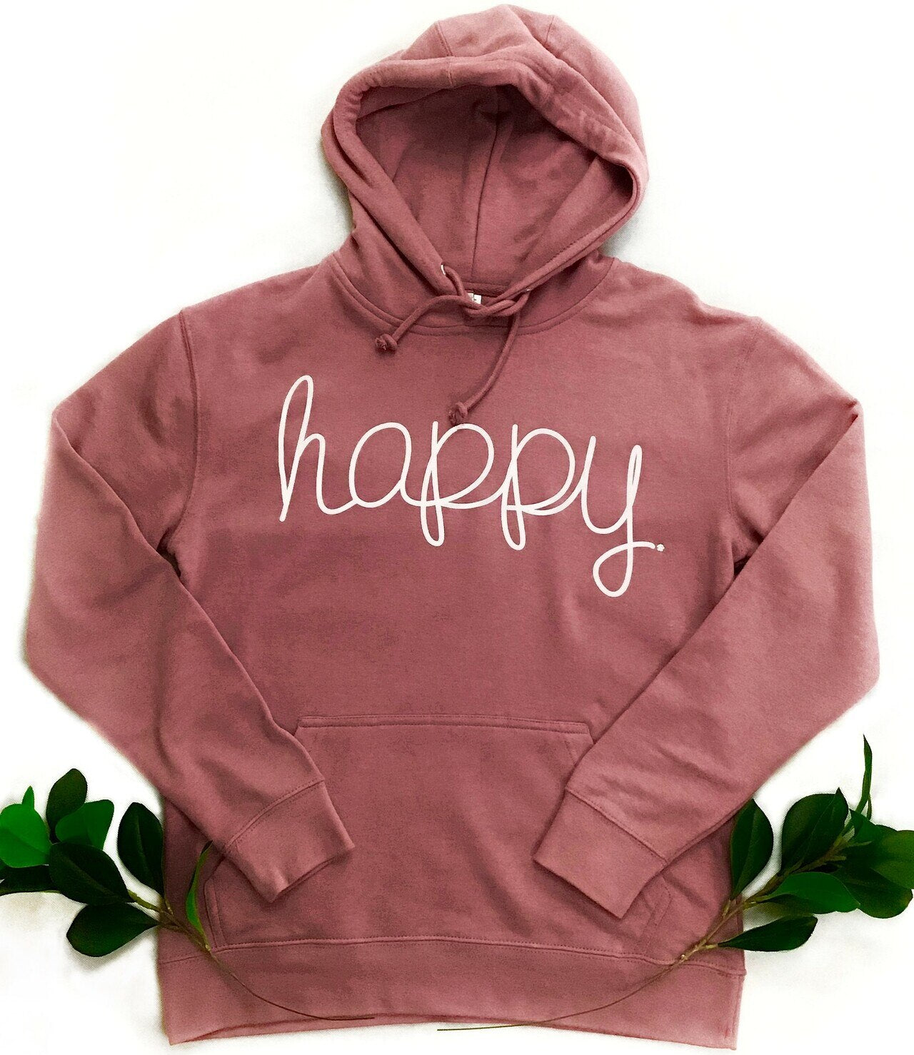 Montana's Heart Happy Ladies Lightweight French Terry Hoodie