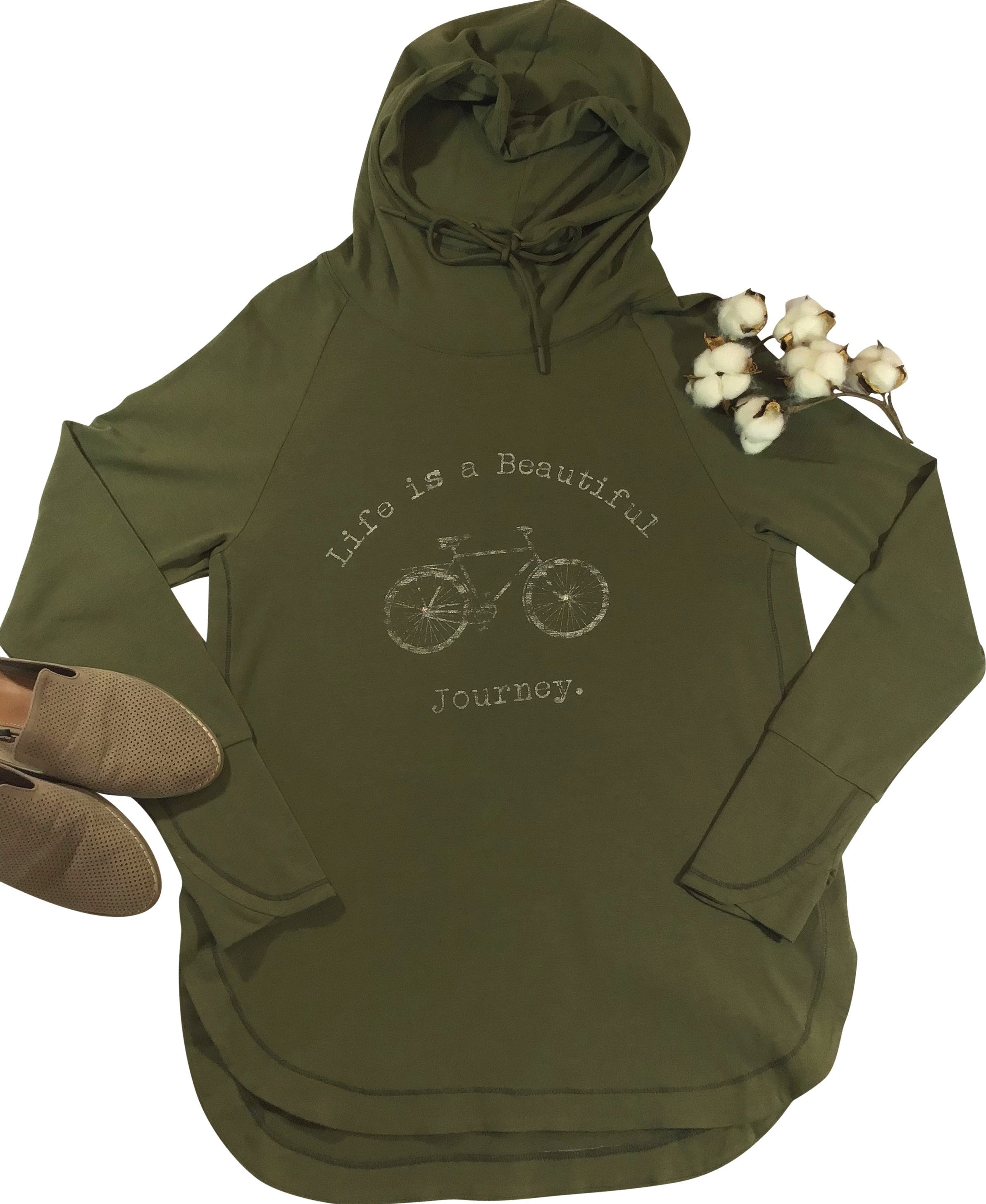 Montana's Heart Life Is A Beautiful Journey Long Sleeve Bamboo Blended Hoodie