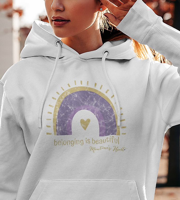 Montana's Heart Belonging is Beautiful Cropped Hoodie Lightweight Sweatshirt and Full length heavyweight hoodie sweatshirt