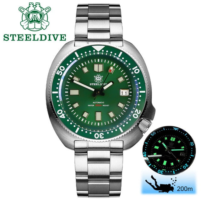 STEELDIVE - Tturtle, Automatic, NH35, 43.8mm, 200M, Sapphire