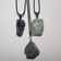 Raw chunky crystal necklace   Natural healing stone pendant