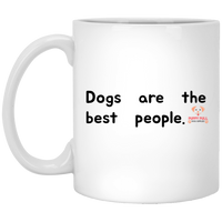 Dogs Are The Best People Solid Mug
