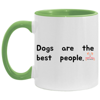Dogs Are The Best People Accent Mug