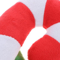 Candy Cane Squeaking Plush
