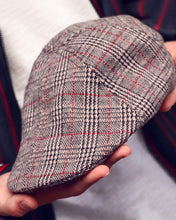 Load image into Gallery viewer, Tartan Tweed Flat Cap