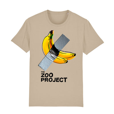 Taped Banana Black Text Men's Organic T-Shirt-The Zoo Project Store