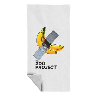 Taped Banana White Beach Towel