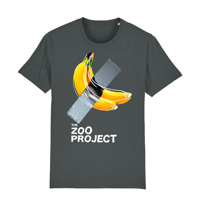 Taped Banana White Text Men's Organic T-Shirt-The Zoo Project Store