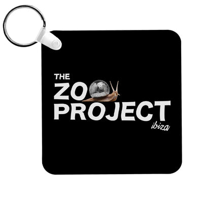 Mirrorball Snail White Text Keyring-The Zoo Project Store