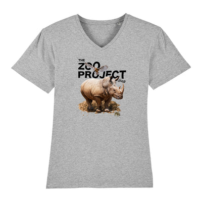 Rhinoceros Owl And Toad Black Text Men's V-Neck T-Shirt-The Zoo Project Store