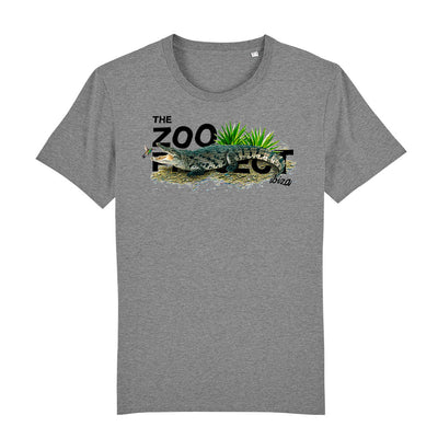 Crocodile And Humming Bird Black Text Men's Organic T-Shirt-The Zoo Project Store