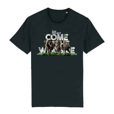 Come To The Wild Side White Text Men's Organic T-Shirt-The Zoo Project Store