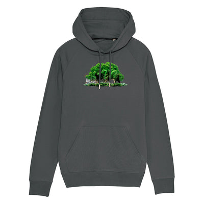 Camouflaged Elephants White Text Men's Flyer Iconic Hoodie-The Zoo Project Store