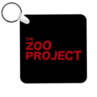 Zoo Project Red Logo Black Keyring