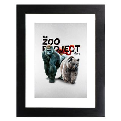 Gorilla Bear Flamingo and Toad Framed Print