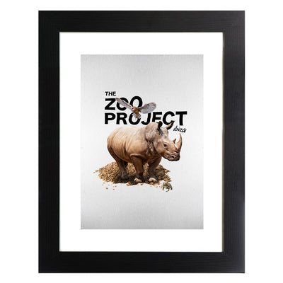 Rhinoceros Owl And Toad Framed Print