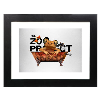 Frog In The Tub Framed Print