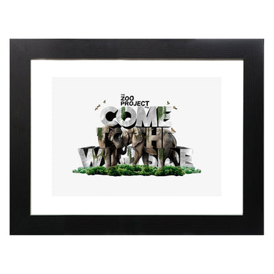 Come To The Wild Side A3 Framed Print-The Zoo Project Store