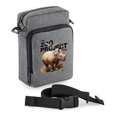 Rhinoceros Owl And Toad Black Text Multi-Pocket Belt Bag-The Zoo Project Store