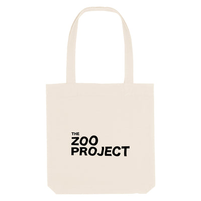 The Zoo Project Black Logo Woven Tote Bag-The Zoo Project Store