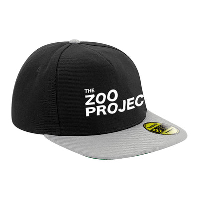The Zoo Project White Logo Flat Peak Snapback Cap-The Zoo Project Store