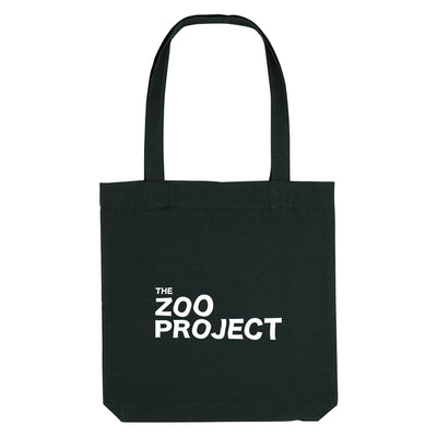 The Zoo Project White Logo Woven Tote Bag-The Zoo Project Store