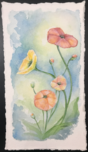 Load image into Gallery viewer, Poppies- Original Watercolor