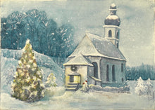 Load image into Gallery viewer, Snowy Church- Fine Art Print