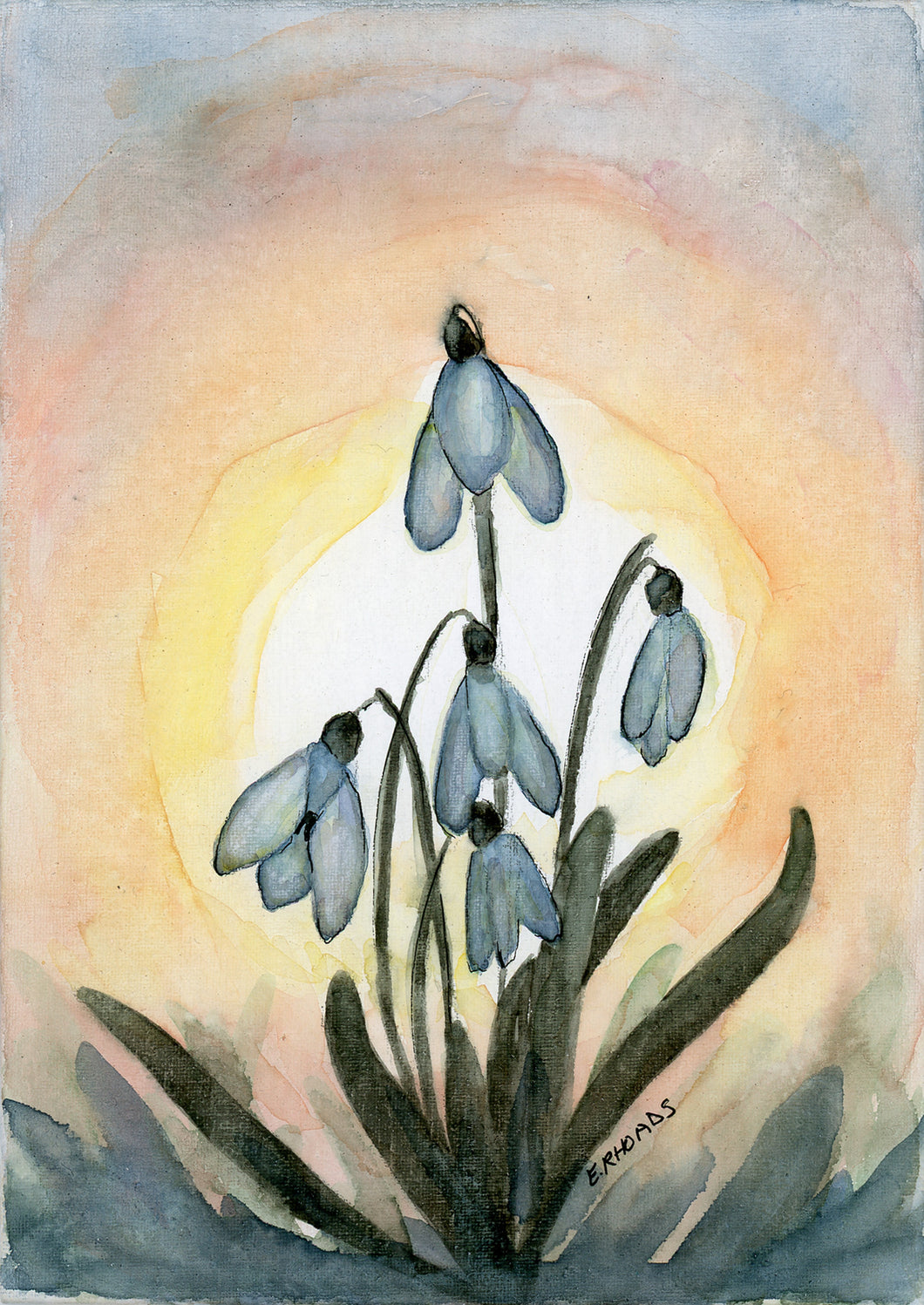 Snowdrops- Single Card