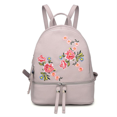 Urban Expressions Rose Backpacks 840611133243 | Grey