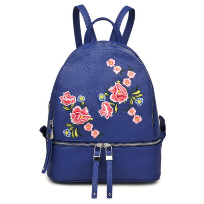 Urban Expressions Rose Backpacks 840611133236 | Navy