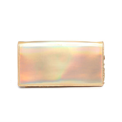 Urban Expressions Blaze Clutches 840611143952 | Gold Rainbow