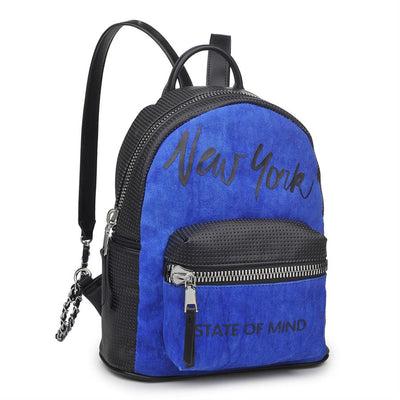 Urban Expressions Manhattan Backpacks 840611145635 | Blue