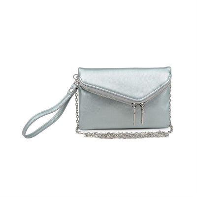 Urban Expressions Lucy Pebble Clutches 840611147929 | Ice Metallic