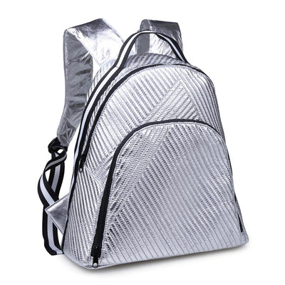 Urban Expressions Diamond Backpacks 840611149060 | Silver